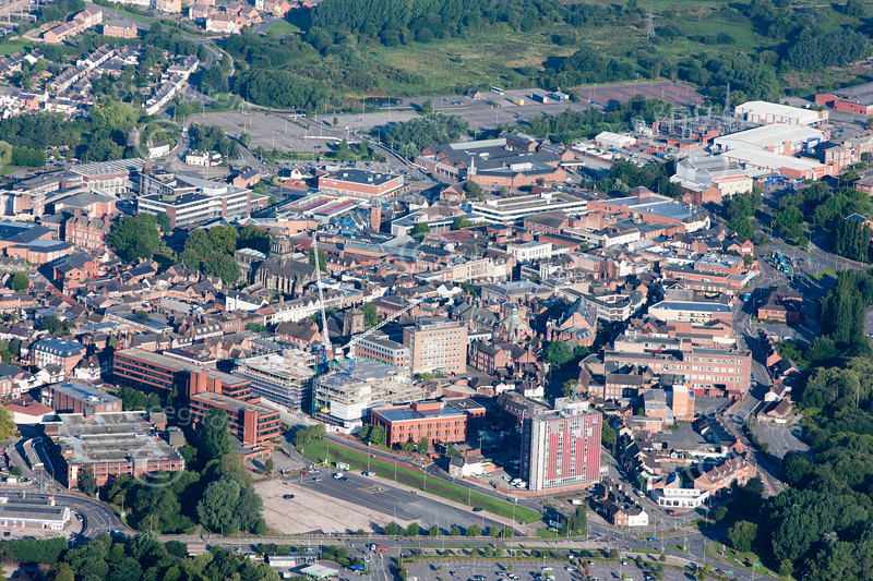 Stafford from the air.