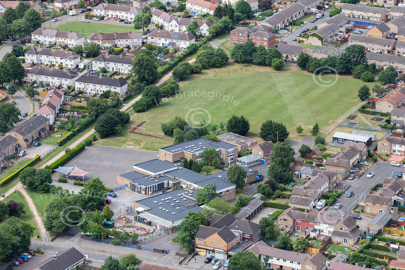 Aerial photo of Bluecoat School.