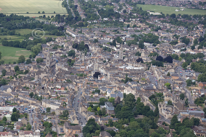 Aerial photo of Stamford.