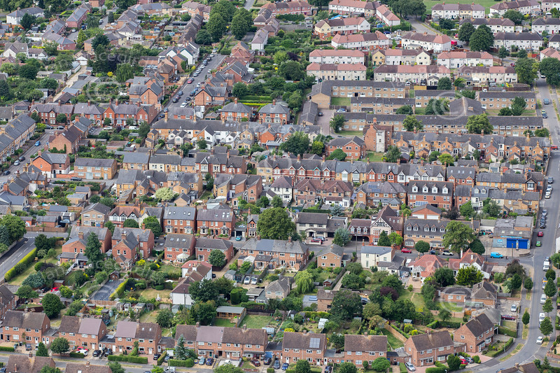 Aerial view of Stamford in Lincolnshire.