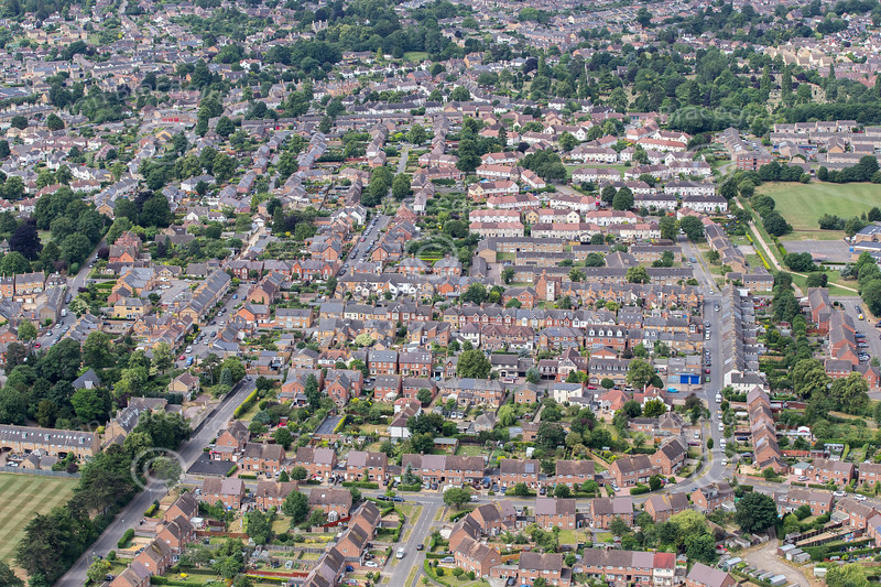 Aerial photo of Stamford in Lincolnshire.