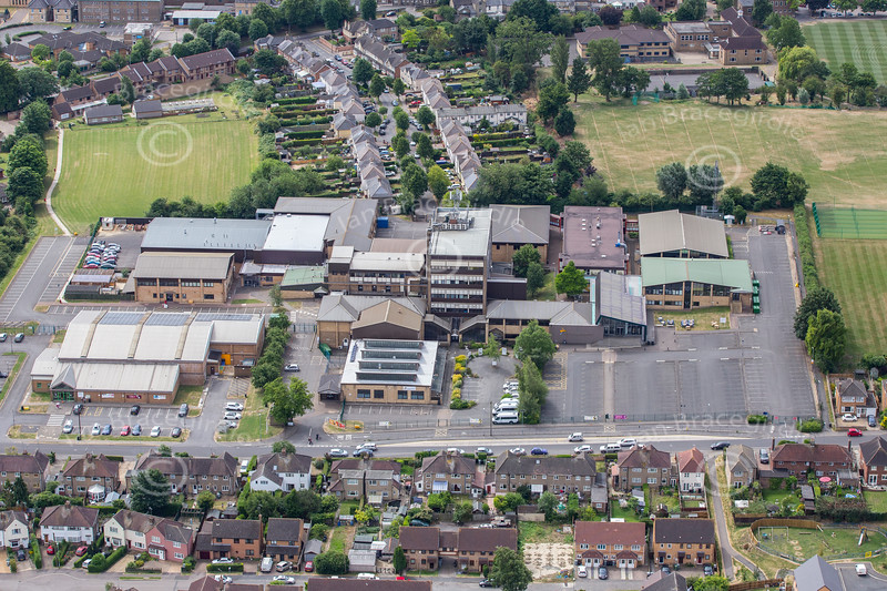 Aerial photo of New College Stamford.