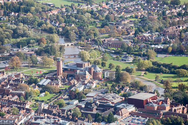 Stratford Upon Avon from the air.