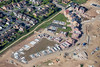 Sutton in Ashfield in Nottinghamshire from the air.