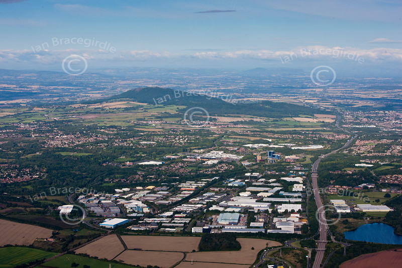Telford in Shropshire from the air.