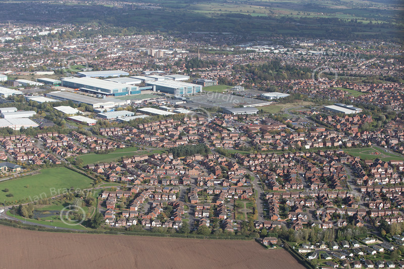 Warwick from the air.
