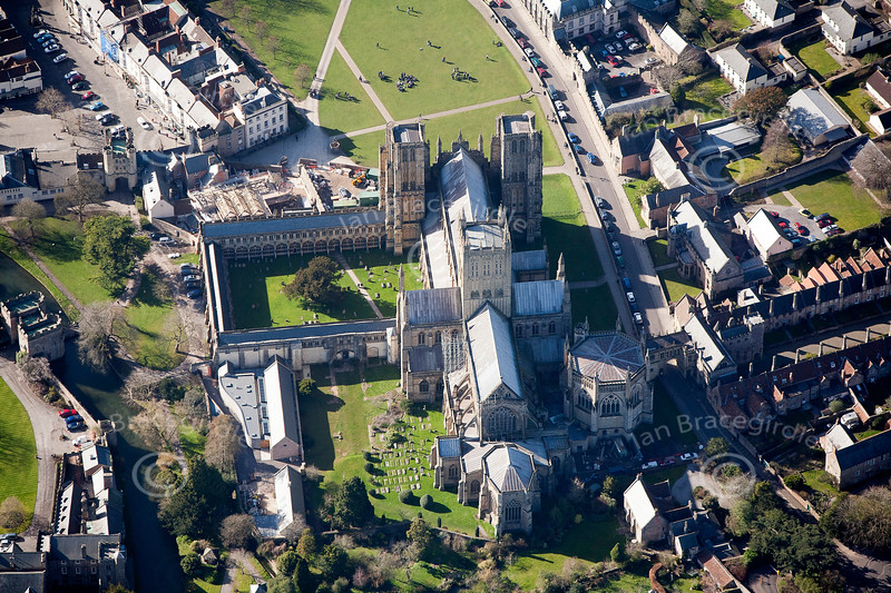 Wells in Somerset from the air.