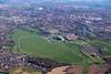 Aerial photo of York Racecourse.