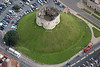 York Castle from the air.