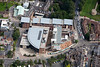 Aerial photo of the Fountains Learning Centre, York St John University.