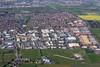 Aerial photo of Clifton Moor, York.