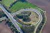 Aerial photo of a road junction near York.