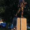 "The Townsend Military Band performed at the weekly Thursday night's Summer Band Concert on the Town Common. While band played Jillian Primrose, 12, of Gardner took the time and good weather to finish her book ""Keeper of the Lost Cities"" as she sits under the Minuteman statue that sits on the common. SENTINEL & ENTERPRISE/JOHN LOVE"