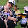 The Townsend Military Band performed at the weekly Thursday night's Summer Band Concert on the Town Common. enjoying the concert is Irene Congdon and her daughter Julia, 7 months old, of Townsend. SENTINEL & ENTERPRISE/JOHN LOVE