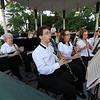 The Townsend Military Band performed at the weekly Thursday night's Summer Band Concert on the Town Common. SENTINEL & ENTERPRISE/JOHN LOVE