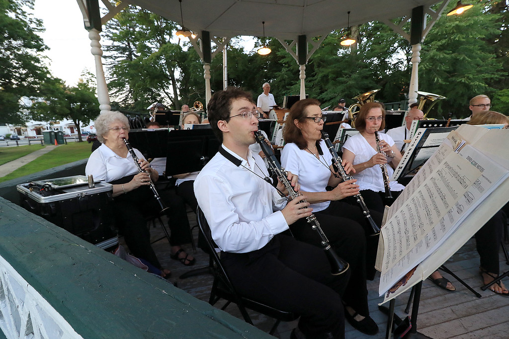 . The Townsend Military Band performed at the weekly Thursday night\'s Summer Band Concert on the Town Common. SENTINEL & ENTERPRISE/JOHN LOVE