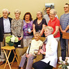 "Family members of Dorothy ""Dot"" Manceau, after she received the Boston Post Cane, L-R, Jim McWilliams, Jack McWilliams, Helen McWilliams, jeanne Grosvenor,Lynda Durrin, Chuck Grosvenor, Pat Dorcelle, Bri Durrin, grandson, Brian Durrin and kneeling with Dot is Carol McWilliams. Nashoba Valley Voice Photo by David H. Brow"