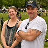 Miranda Smith and her Father, Paul rode their bikes to the parade at Townsend Town Common. Sentinel & Enterprise/ Jim Fay