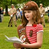 Anna Bowen from Brownie Troop 64580 of Townsend spoke to the crowd during the Memorial day Ceremonies. Sentinel & Enterprise/ Jim Fay