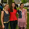 Emma King, Jennifer Bardell and Kayla Bardell were wearing the Red, White and Blue to the Ceremonies at the Townsend town Common. Sentinel & Enterprise/ Jim Fay