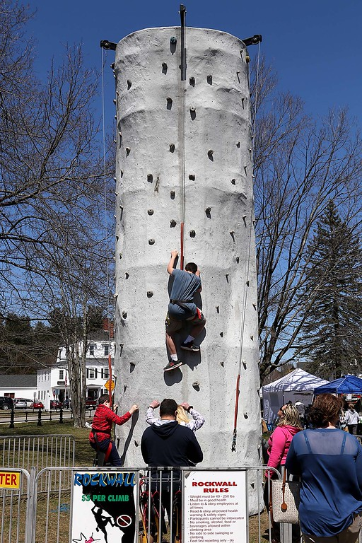 . many tries their had a the rockwall they had on the Townsend common Saturday during Townsend\'s Earth Day event. SENTINEL & ENTERPRISE/JOHN LOVE