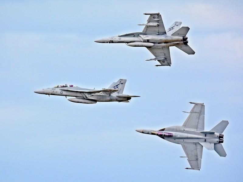 """RAAF F/A 18F Super Hornet - Three Views."""