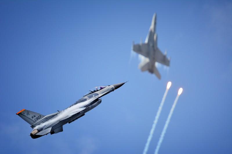 """USAF F16 and RAAF F/A 18."""