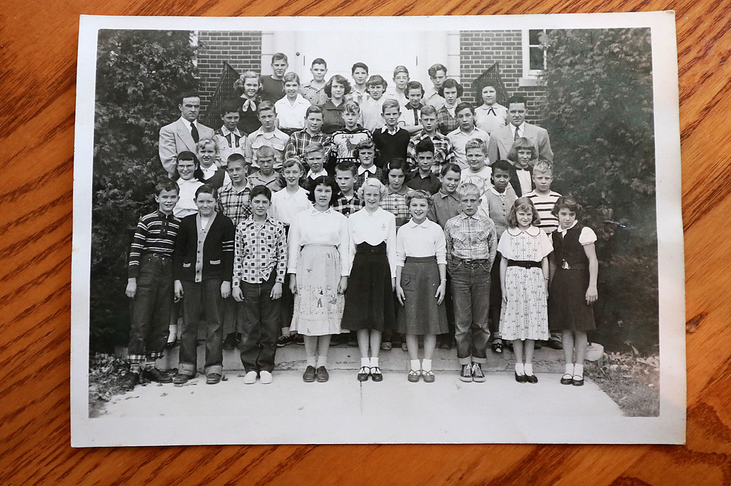 . This is a picture of the Townsend Spaulding High School class of 1958 as seventh graders. SENTIENL & ENTERPRISE/JOHN LOVE