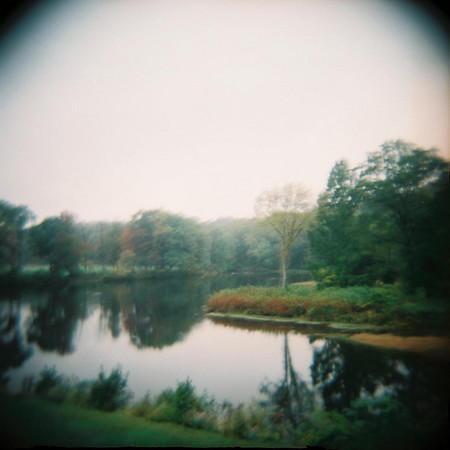 Paradise Pond, Smith College, Northampton MA.<br /> <br /> Holga photograph
