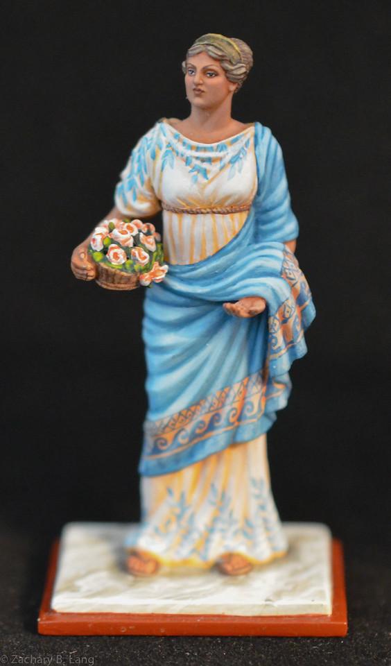 6272 Roman Woman w- Flowers 1