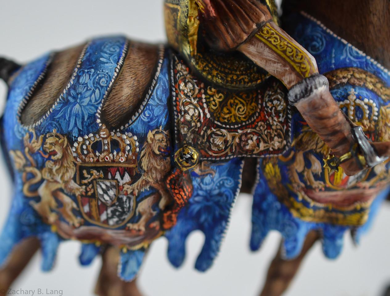 Medieval Herald Trumpeting - Mounted - Sineus 4