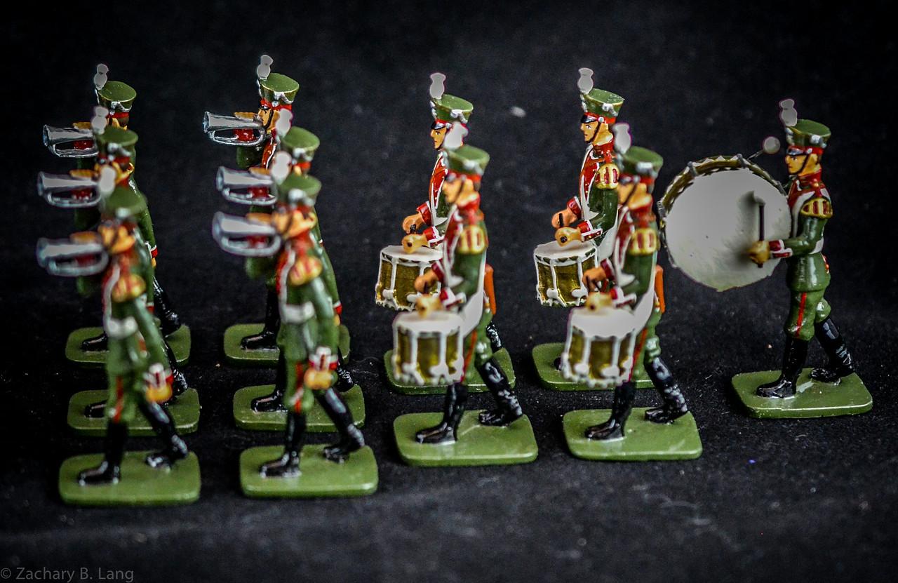 Frontline Russian Preobrashenski Reg Troops and Band 3