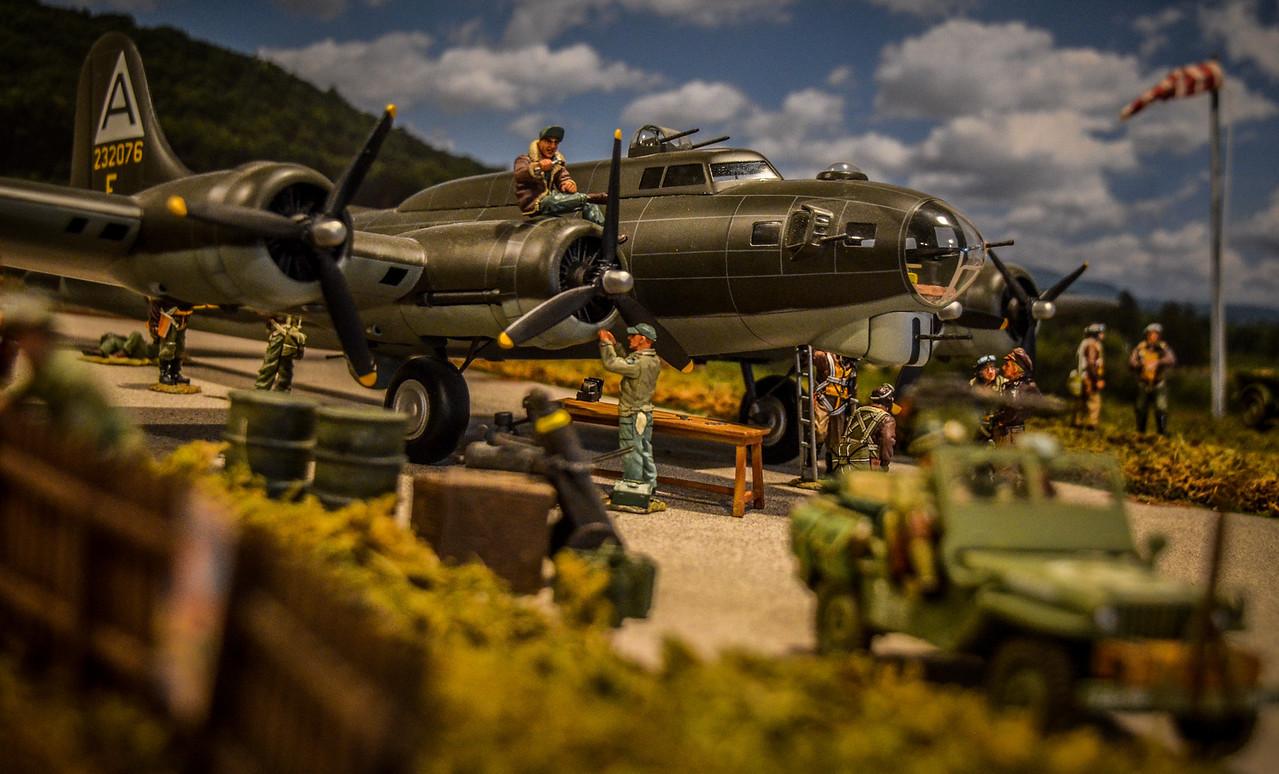 Bassingbourn Airfield K&C B-17  15
