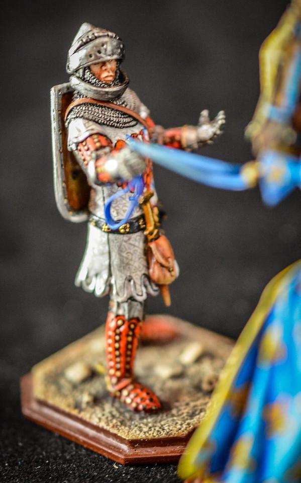 King Philip VI w- Knight Holding Horse, Shield, Helmet 2