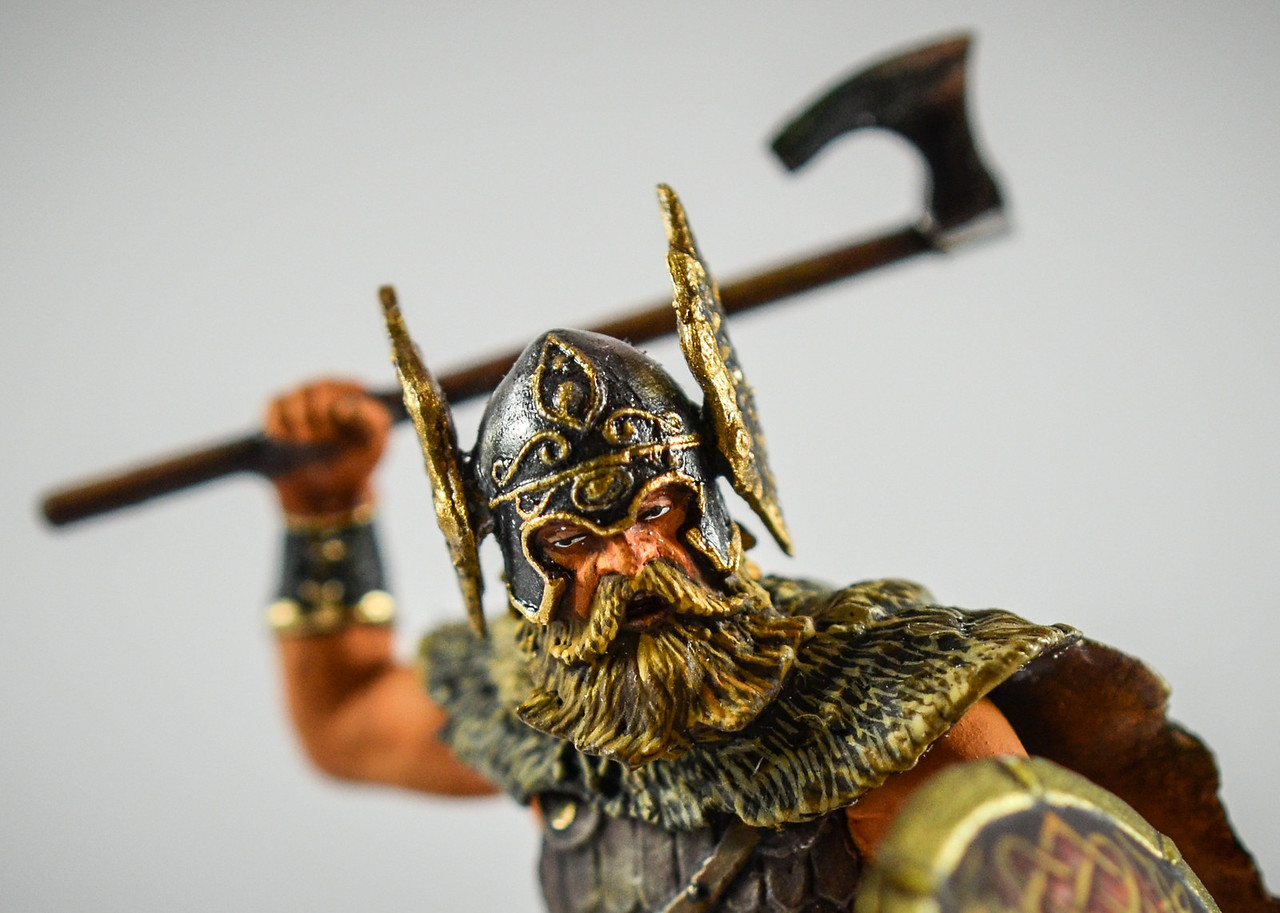 Barbarian w- Winged Helmet Swinging Axe 3