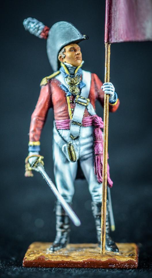 Capt  Robert Dalrymple w-Flag & Sword, 3rd Foot Guards 3