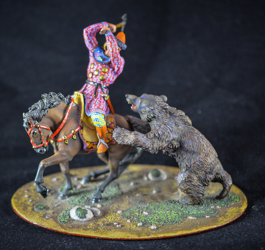 Mounted Rider w- Axe and Bear 1