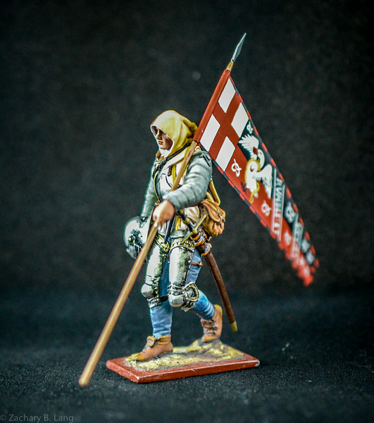 3820 3 War of the Roses Warrior w- Flag 1