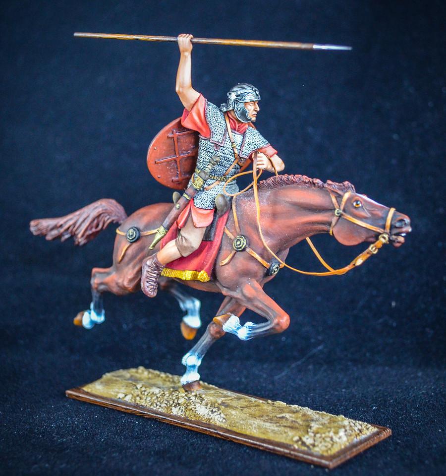 Roman Cavalryman at Full Gallop w- Spear 2