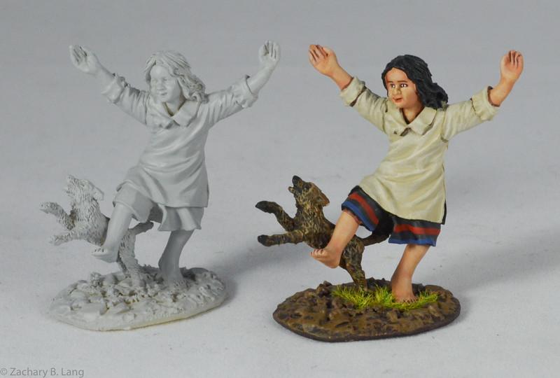 """""""Little Julie"""" Indian Girl with Dog-John Jenkins Designs-RSF-32"""