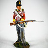 British 44th Regiment Light Company Standing Defending-Wm  Britains-50063C