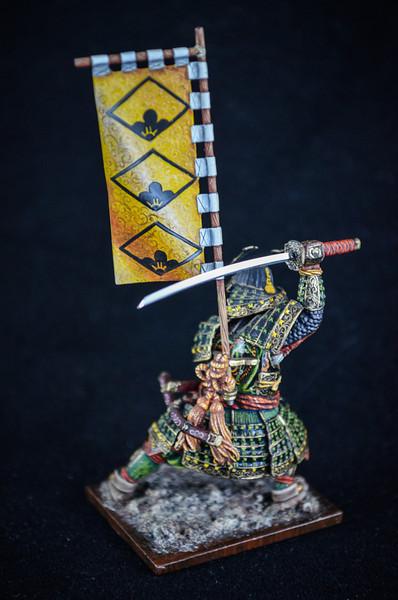 Samurai Warrior, Full Armor w-Sword and Flag 3
