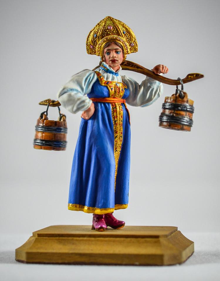Russian Girl Carrying Water 1