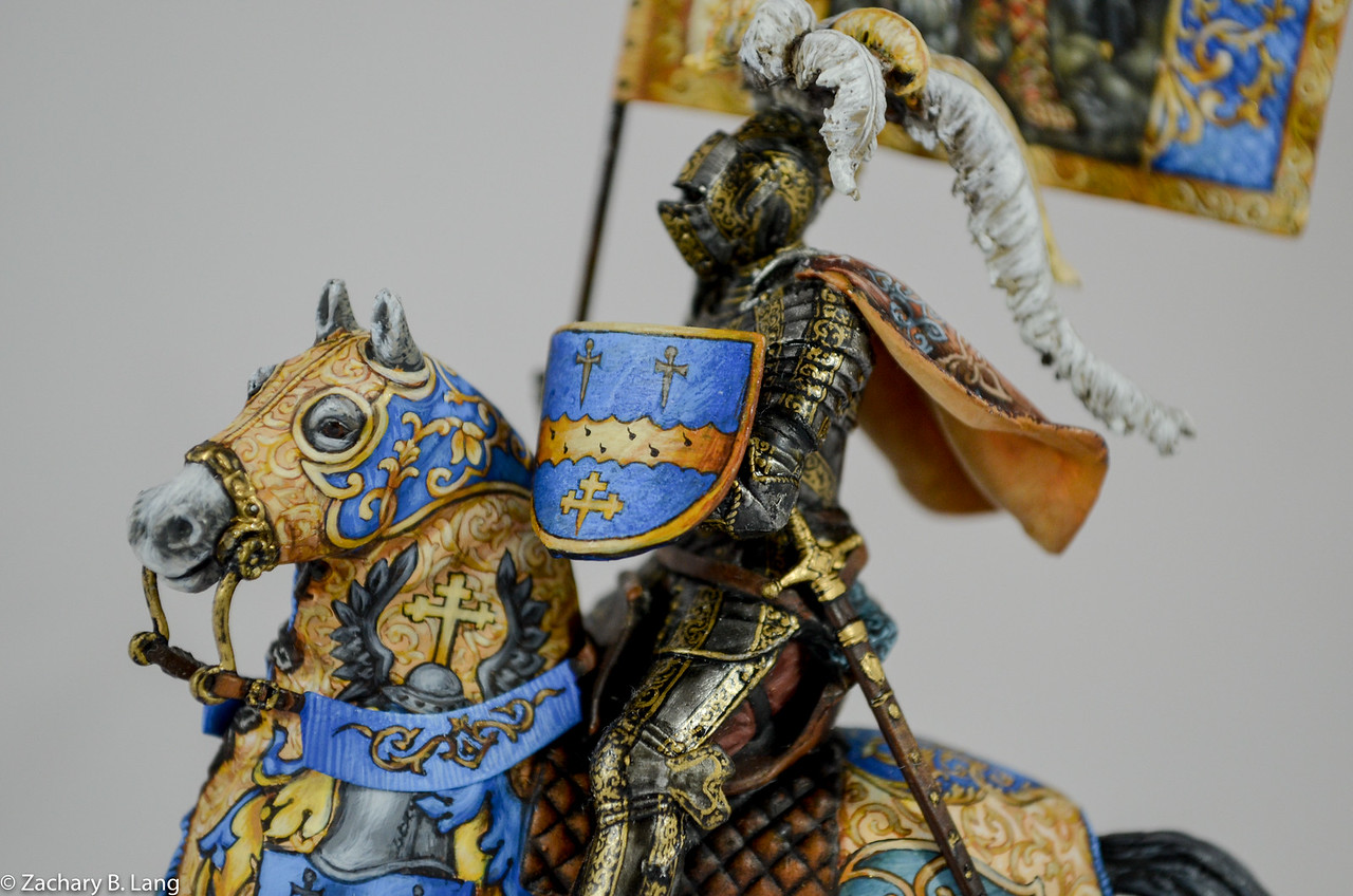 Parade Knight with Flag-Sineus Casting - Painted by Vitaly Puzenko-CF05 3 img7