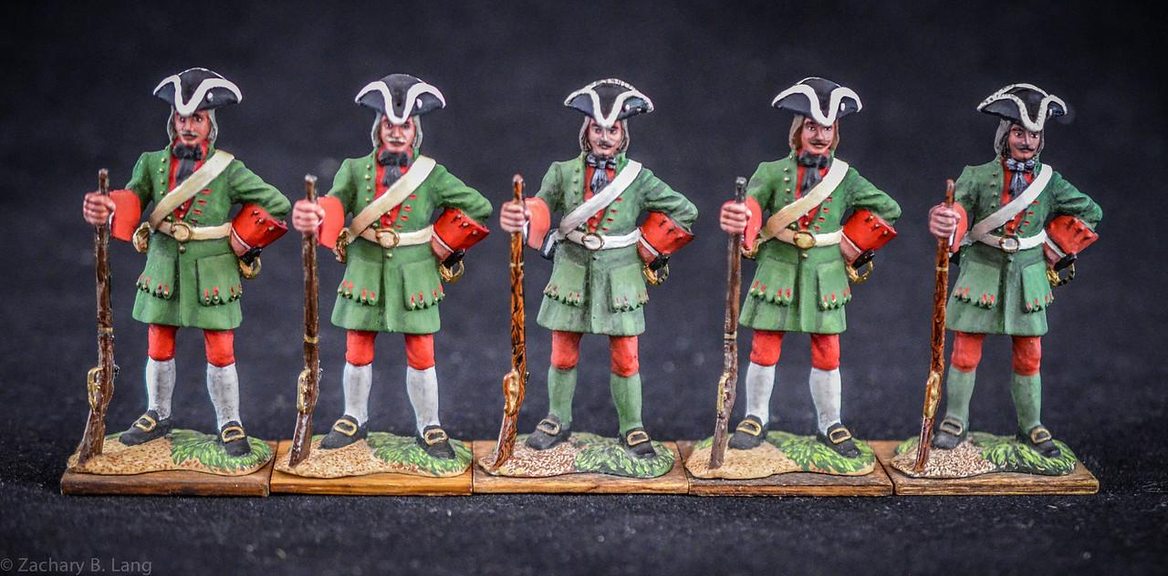 040 Private, Preobrajenski Reg  w-Rifle-1709
