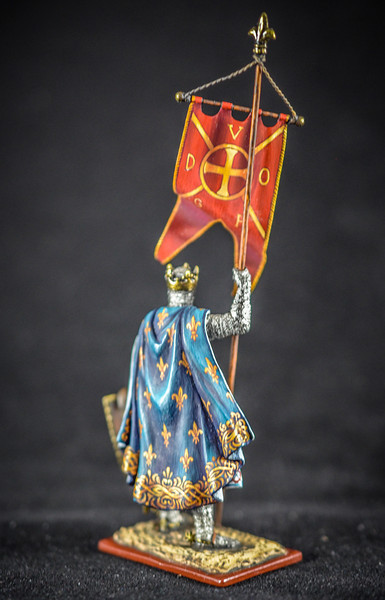 Philippe Auguste King of France Holding Oriflamme Flag 2