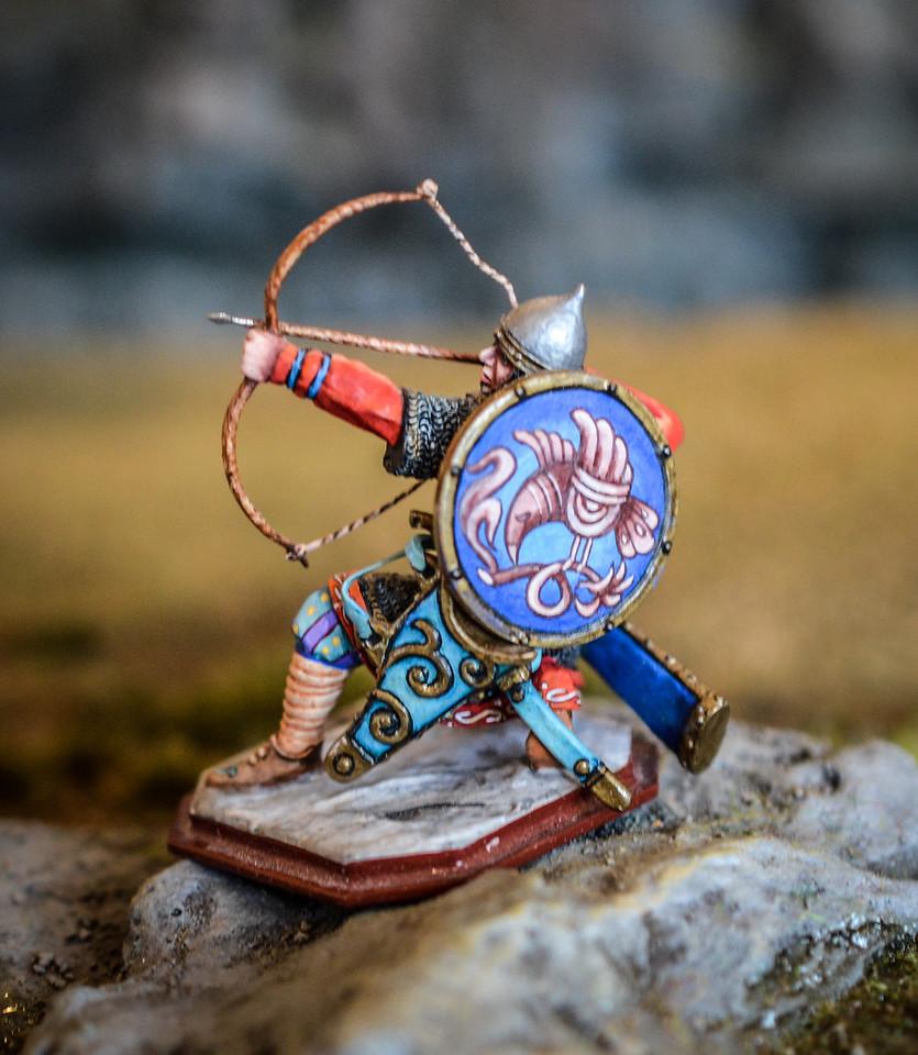 Russian Warrior Kneeling w- Bow 2