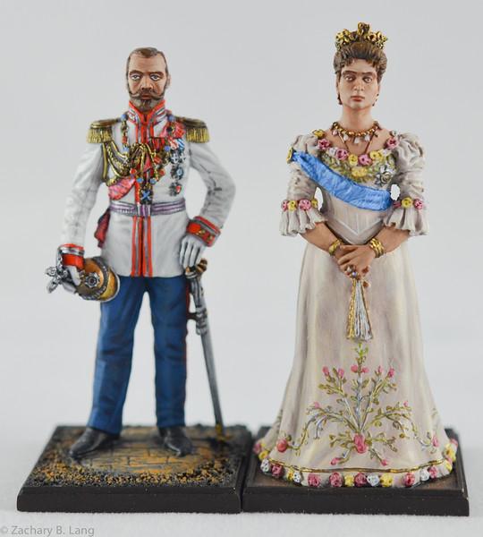Lead Army 5810-5811 Nicholas II and Alexandra -1912