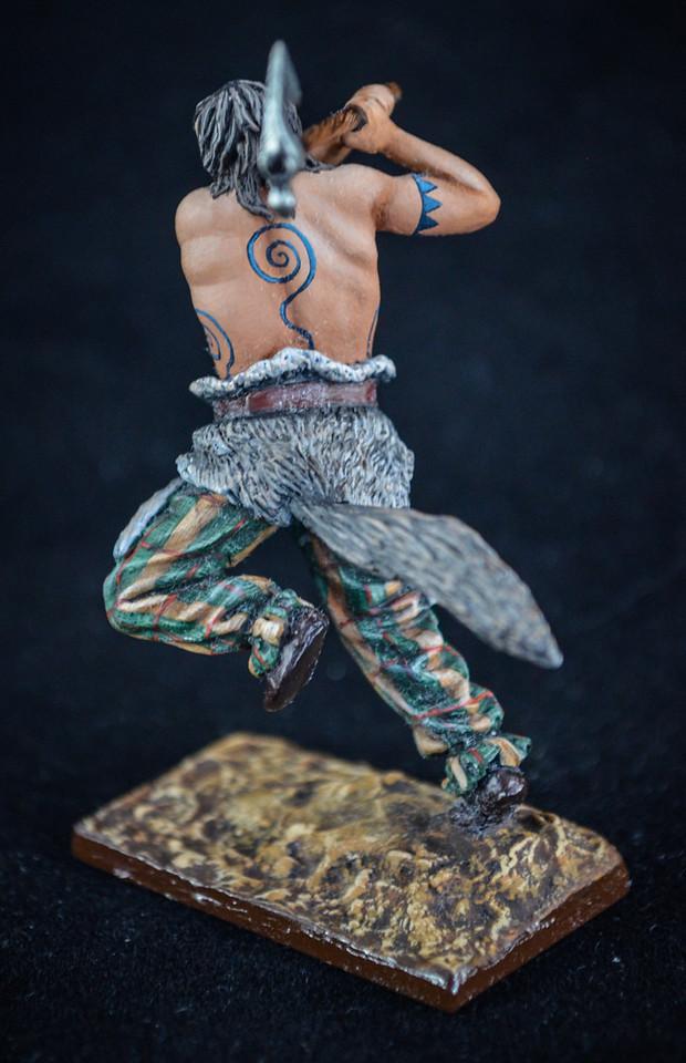 Barbarian in Battle w- Axe w- Pelt around waist 3