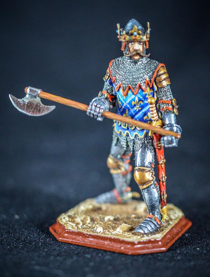 French King Jean II w Axe 1